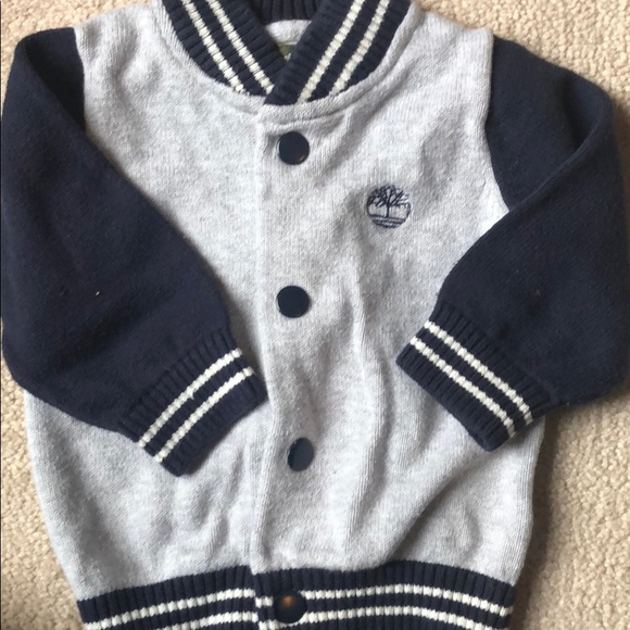 Timberland infant button up sweater